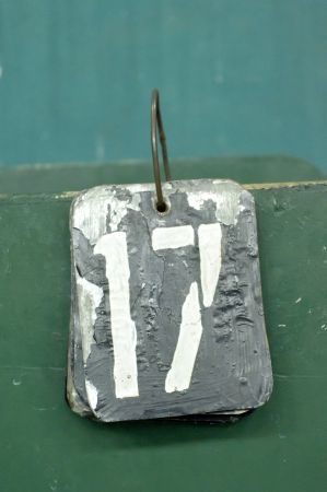 17: number tags plate for badminton games scores