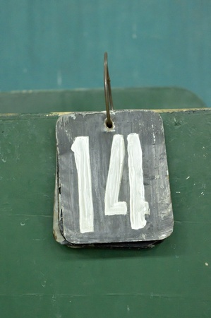 number tags plate for badminton games scores Stock Photo - 10326906