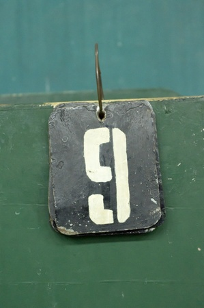 number tags plate for badminton games scores Stock Photo - 10326907
