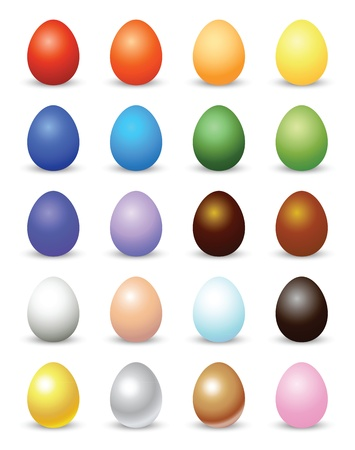 colorful easter eggs illustrations.