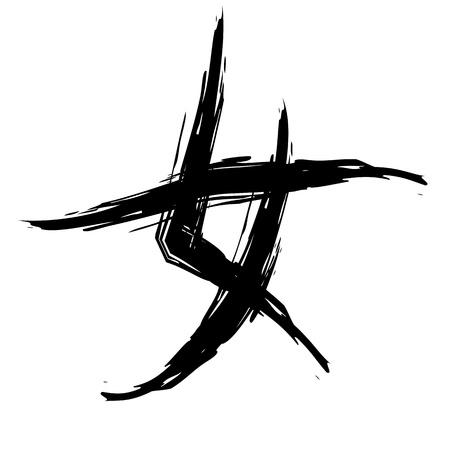 carattere cinese per la donna in stile calligrafia.