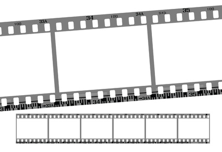 film strip: film strip, total 6 continous frames. vector with correct dimension and details.