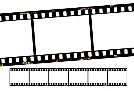 pellicola diapositiva o trasparenza strisce, dettagli e dimensione accurata.  Vettoriali