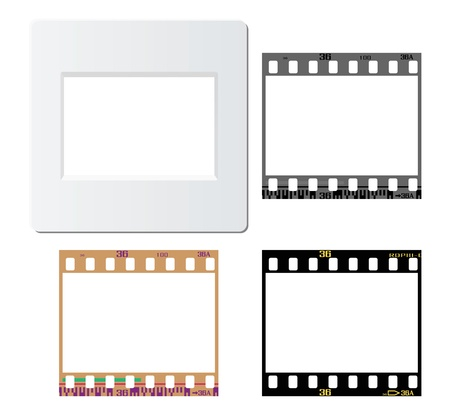 usage: Set of slide mount, slide frame, negative frame, for various design usage.