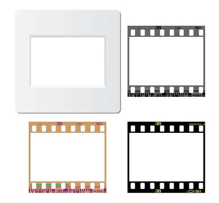 photo strip: Set of slide mount, slide frame, negative frame, for various design usage.