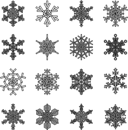 snowflakes illustrations, for christmas themed design elements. Stock Vector - 10598924