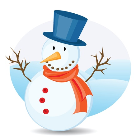 snowman illustrations for christmas. Vector