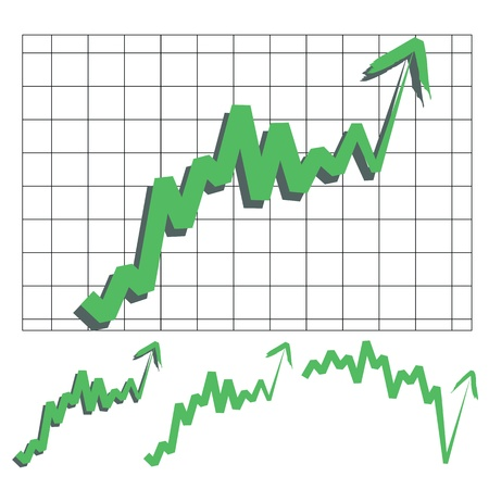 stocks index upward arrow vector, indicate rising and rebounds. Please check my profile for downward arrow. Stock Vector - 10598955