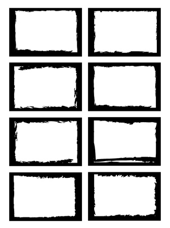 fronteiras: a set of grunge style border, use for photo frame or other usage.