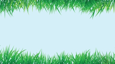 grass border background, vector format with copy space. Vector