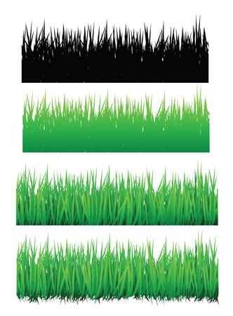 grass vector, with seamless edge. For border, background, natures theme. Stock Vector - 10598986