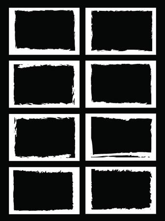 confini grunge, cornici, per l'immagine o una foto. formato vettoriale.