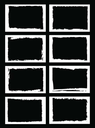 grunge border: grunge borders, frames, for image or photo. vector format.