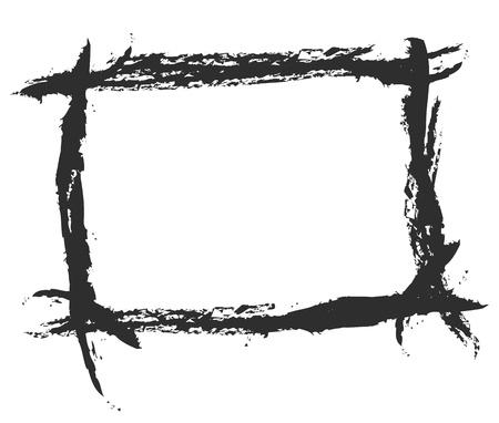 grunge photo frame: grunge border per lo sfondo, per illustrare colpo spazzolato.