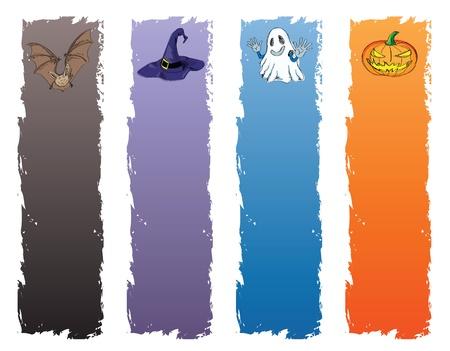 halloween banner, standard size as vertical banner size (skycraper) 160 x 600. Vector