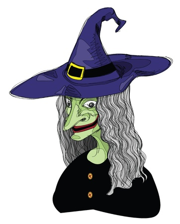 wicked: illustrations of witch, lines are not expanded to preserve the ability of editing. Illustration