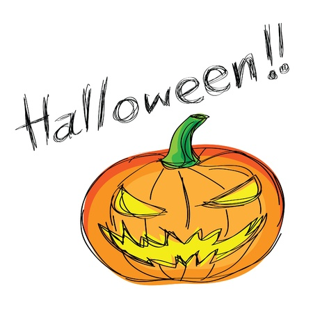 jack o lantern: a note with hand-drawn halloween theme message- 1 of series
