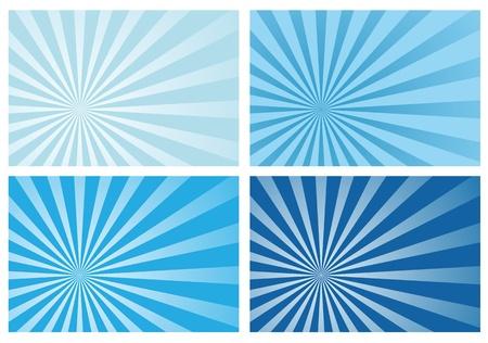 conserve: blue burst rayons de fond, eps10 format, de pr�server la transparence et masque d'opacit� pour le changement de couleur facile, la position de la salve et effets de fondu. Illustration