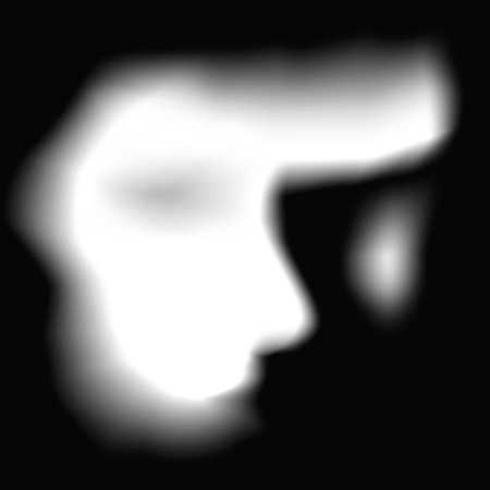 ghost face: ghost face in vector format. Illustration