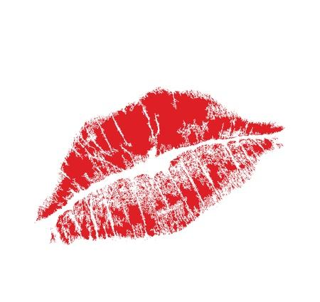 beso: labio realista marca en formato jpg y vectores, cuidadosamente trasladado. aislados sobre fondo blanco.
