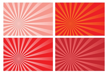 red burst rays background, eps10 format, preserve transparency and opacity mask for easy color changing, position of the burst and fading effects. A clipping mask is used. Stock Vector - 10609478
