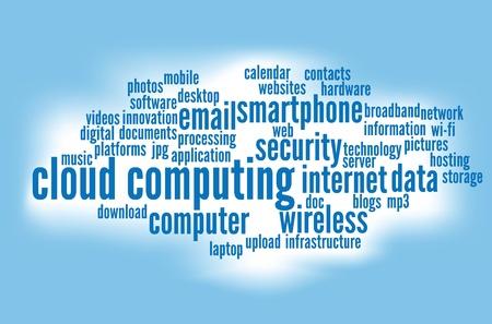 computación en la nube conceptos de fondo. Ilustración de vector