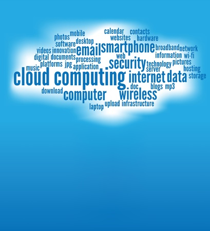 cloud computing concepts background, with copy space. Stock Vector - 10649381