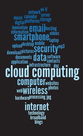 equipos: nube de computaci�n antecedentes conceptuales, con palabras y conceptos.