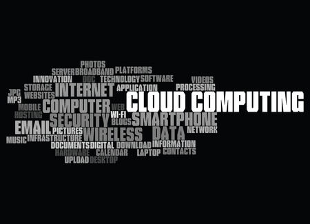cloud computing conceptual backgrounds, with keywords and concepts. Stock Vector - 10649364