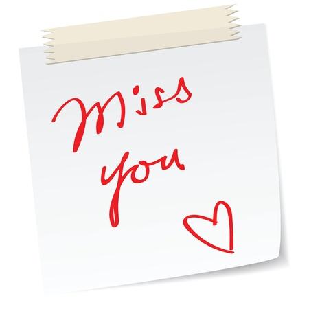 amore con una nota scritta a mano