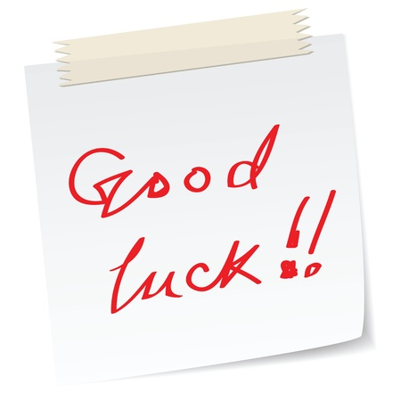 good luck: a note with