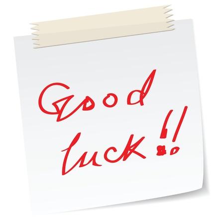 buena suerte: una nota con