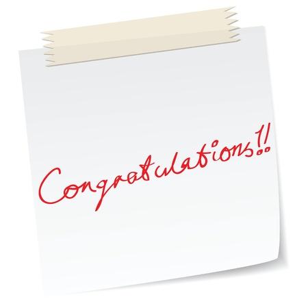 a congratulation note Stock Vector - 11088970