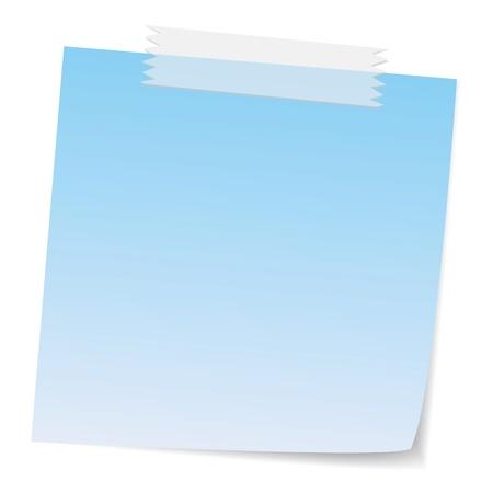 Nachricht stellt mit Klebeband, ist Klebeband mit Transparenz, die kostenlos mit überlappenden Effekte bewegen können. Vektorgrafik