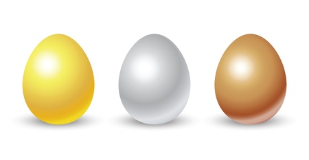gold eggs: gold, silver, bronze eggs for conceptual usage.