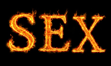 sex words on fire, burning desire Stock Photo - 11210194