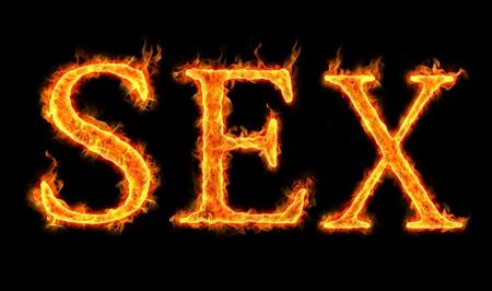 sex words on fire, burning desire Stock Photo - 11210194