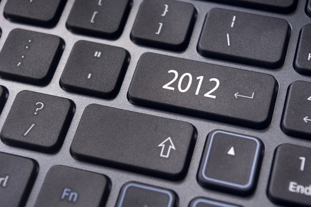 picture of close up on keyboard pad, for 2012 year conceptual usage. photo