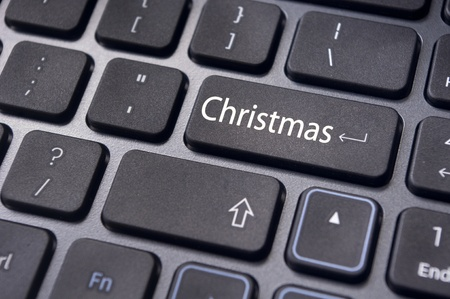 picture of close up on keyboard pad, for christmas concepts. photo