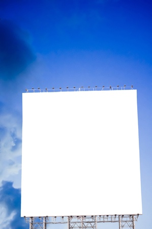 attentions: empty billboard display with evening sky, image manipulations.