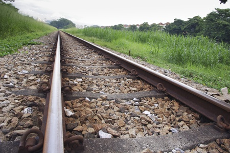 vanishing: railway track with a vanishing point of view.