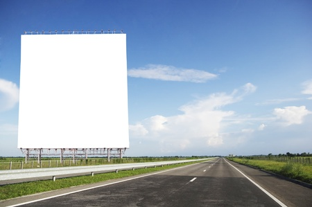 an image manupulations of huge billboard on the road, for road safety concepts. photo