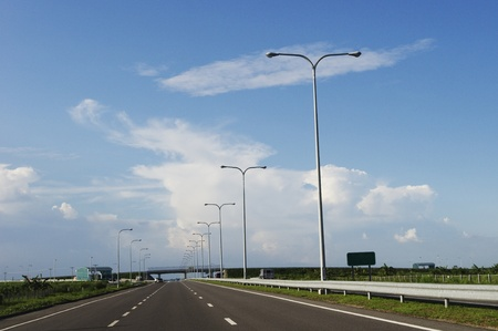 streetlight: modern highway, transportation or travel background
