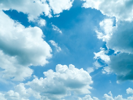 rainclouds: dramatic blue sky with clouds, for backgrounds.