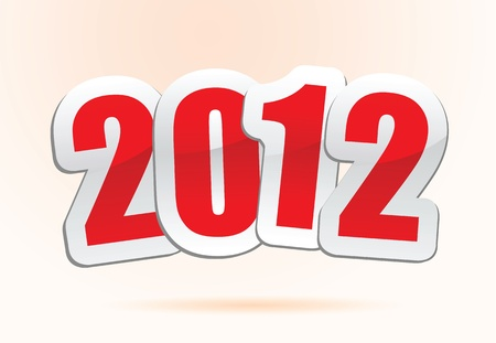 vector illustrations of new year greetings for 2012. Stock Vector - 11820745