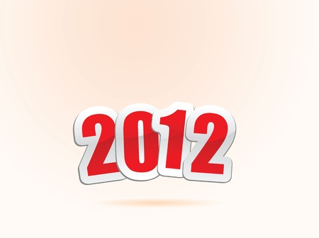 vector illustrations of new year greetings for 2012. Stock Vector - 11820746