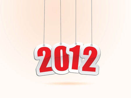 vector illustrations of new year greetings for 2012. Stock Vector - 11820747