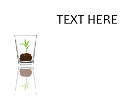 to illustrate concept of a seedling is being taking care. Illustration