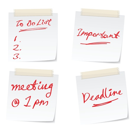 stressful: vector illustrations of business concepts for busy office, with meetings, schedules.