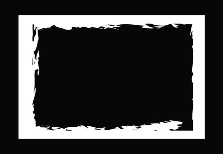 bordi grunge, cornici, per l'immagine o la foto. formato vettoriale.